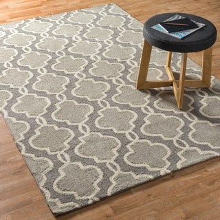 Hand Hooked Charlotte Grey Rug (5'0 x 7'6)