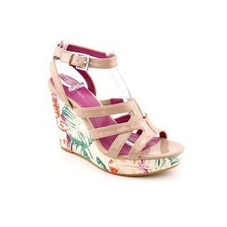Calvin Klein Women's 'Jennah' Beige Patent Leather Sandals
