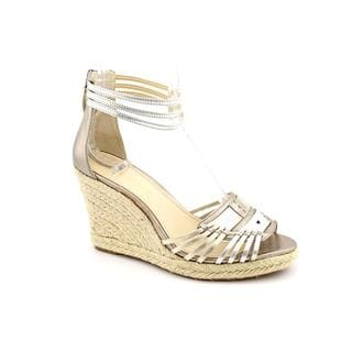 Enzo Angiolini Women's 'Falera' Silver Leather Sandals