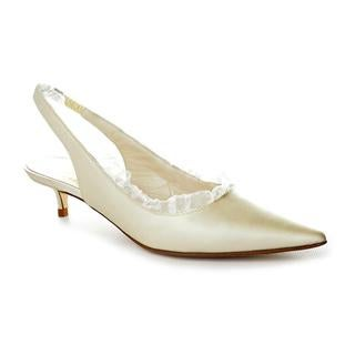 Bridal by Butter Women's 'Cal' Ivory Satin Kitten Heel Dress Shoes