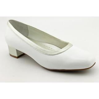 Trotters Women s Dora White Leather Dress Shoes - Extra Narrow Today