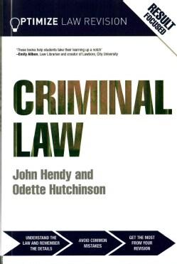 Optimize Criminal Law (Paperback)