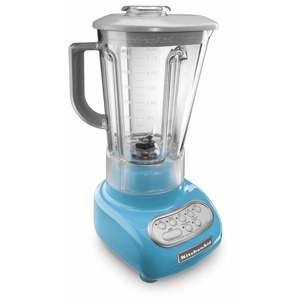 KitchenAid RKSB560CL Crystal Blue 5-speed BPA-free Pitcher Blender (Refurbished)