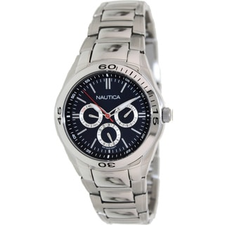 Nautica Men's Blue Dial Stainless Steel Watch