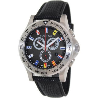 Nautica Men's Black Dial Chronograph Watch