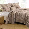 Tiana Country Taupe Bonus 5-piece Quilt Set