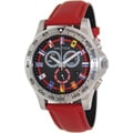 Nautica Men's 'Nst 600' Red/ Black Dial Watch