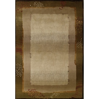 Generations Transitional Green/ Beige Polypropylene Rug (5'3 x 7'6)