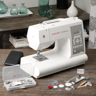 Singer 7470 Electronic Sewing Machine with Bonus (Set of 9 Feet)