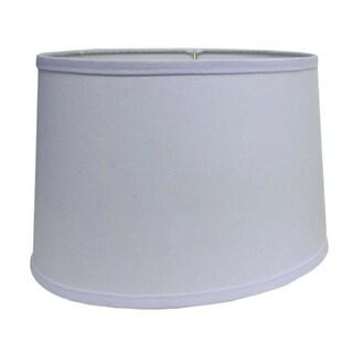 Round Hardback White Fabric Drum Shade