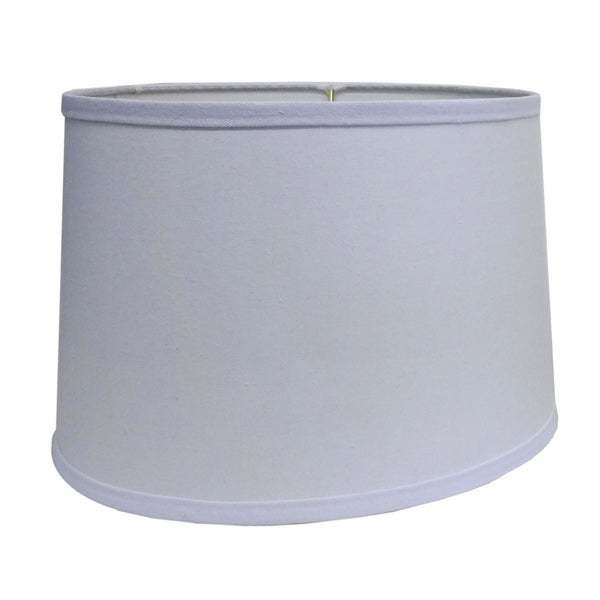 Round Hardback White Fabric Drum Shade