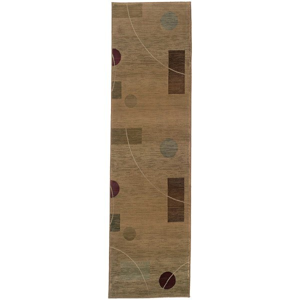 Generations Beige/ Red Rug (2'7 x 9'1) 11486270