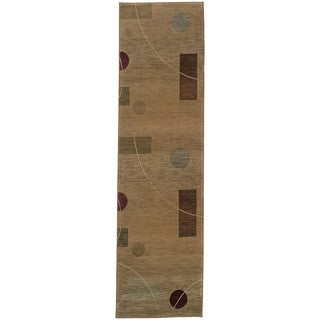 Generations Beige/ Red Polypropylene Rug (2'7 x 9'1)