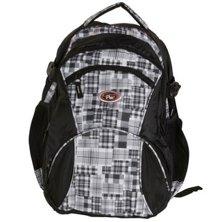 Cal Pak 'Geil' Grey Block Print 17-inch Backpack With Laptop Compartment
