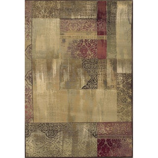 Generations Easy-care Green/ Beige Polypropylene Rug (5'3 x 7'6)