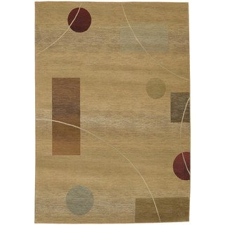 Generations Beige/ Red Polypropylene Rug (9'9 x 12'2)