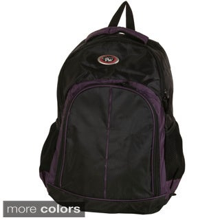 Cal Pak Purple/ Black 'Hero' 17-inch Backpack