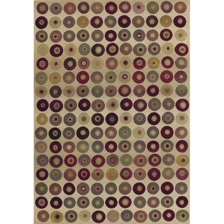 Generations Beige/ Red Polypropylene Rug (7'10 x 11')