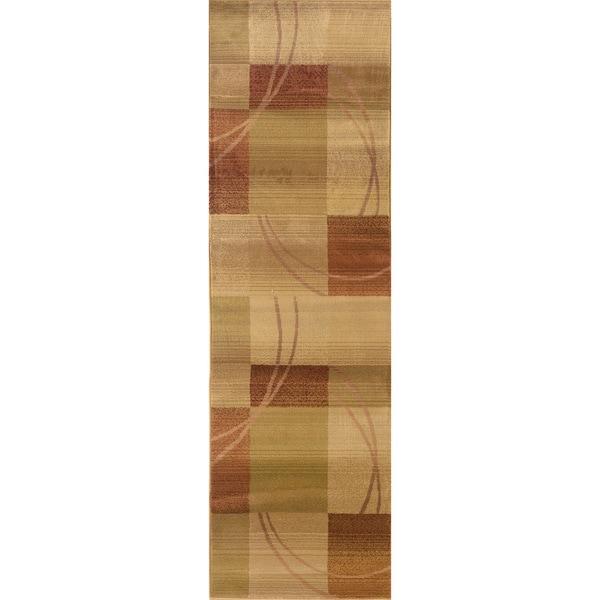 Generations Beige/ Rust Rug (2'7 x 9'1) 11486379