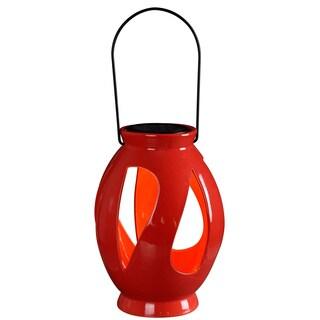 Twist Solar Lantern Red Finish