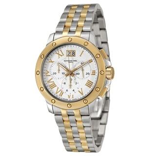 Raymond Weil Men's 'Tango' Yellow Goldglated Chronograph Watch