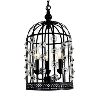 Chic Bird Cage Lantern 3-light Chandelier