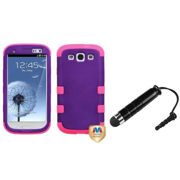 INSTEN Hybrid Protector Phone Case Cover/ Mini Stylus for Samsung Galaxy SIII/ S3