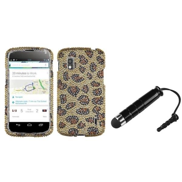 BasAcc Pink Zebra Skin Diamante Case/ Mini Stylus for LG E960 Nexus 4