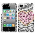 BasAcc Leopard Diamante Phone Case for Apple iPhone 4S/ 4