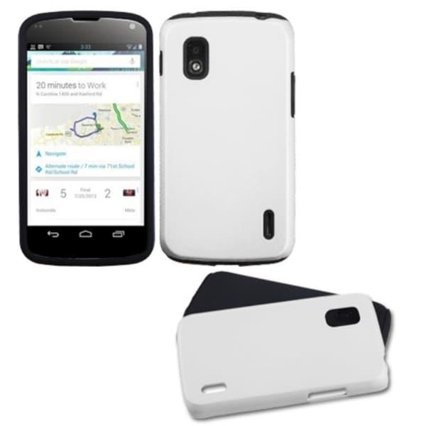 BasAcc White Fusion Protector Case for LG E960 Nexus 4