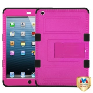BasAcc Hot Pink/ Black TUFF Hybrid Case for Apple iPad Mini