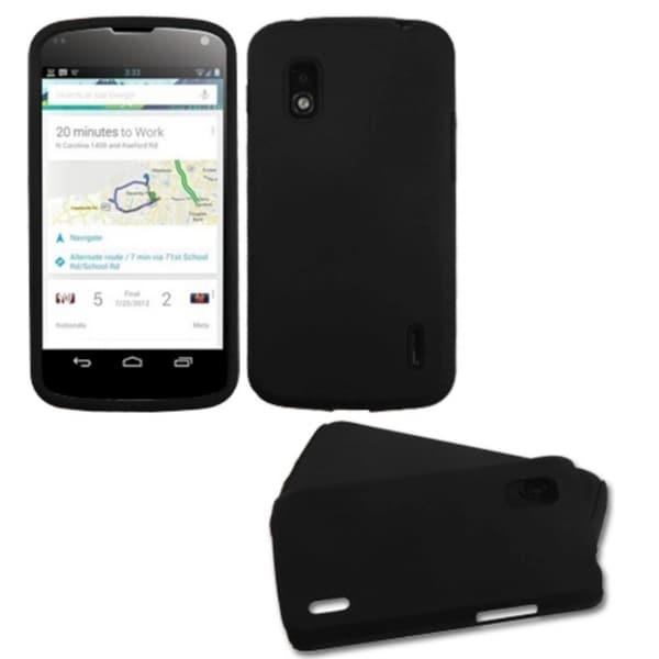 BasAcc Black Fusion Protector Case for LG E960 Nexus 4