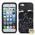 BasAcc Metal Plating/ Black Skullcap Hybrid Case for Apple iPhone 5