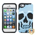 BasAcc Blue/ Black Plating/ Skullcap Hybrid Case for Apple� iPhone 5