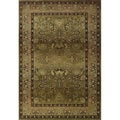 Generations Green/ Beige Polypropylene Area Rug (4' x 5'9)
