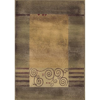 Generations Green/ Beige Rug (5'3 x 7'6)