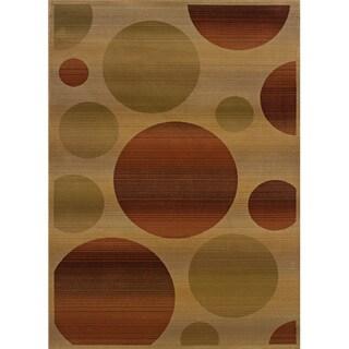 Generations Beige/ Rust Polypropylene Area Rug (5'3 x 7'6)