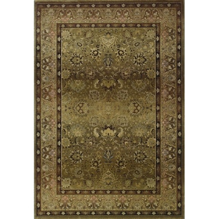 Generations Traditional Green/ Beige Polypropylene Rug (7'10 x 11')