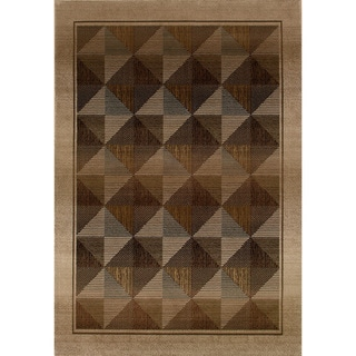 Generations Beige/ Green Contemporary Polypropylene Rug (2' x 3')