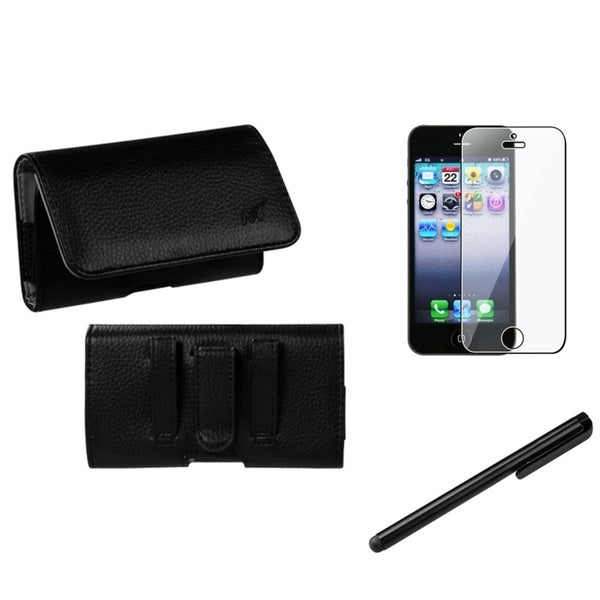 INSTEN Pouch-Style Phone Case Cover/ Stylus/ LCD Protector for Apple iPhone 5/ 5S/ 5C