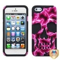 BasAcc Red Lightning/ Black Skullcap Hybrid Case for Apple iPhone 5