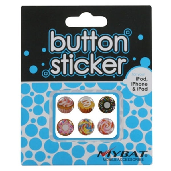 INSTEN Button Stickers for Apple iPhone 5 iPod touch/ iPad 4/ Mini