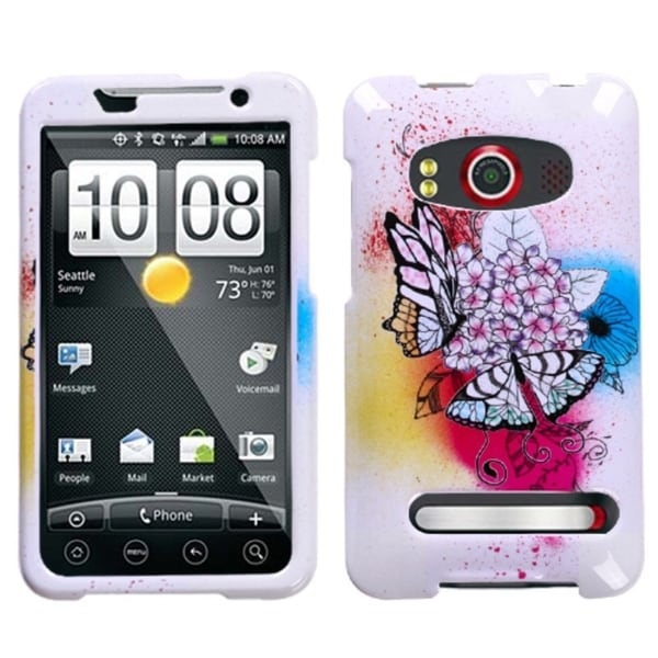 INSTEN Butterfly Paradise Phone Case Cover for HTC EVO 4G