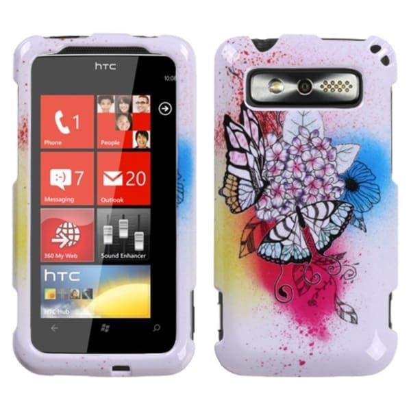 INSTEN Butterfly Paradise Phone Case Cover for HTC Trophy