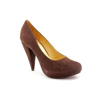 Amiana Women's '12-137011' Dark Brown Textile Heels