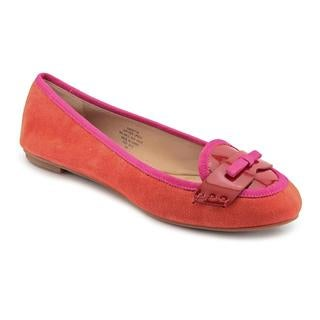 Joan & David Women's Orange 'Editha' Regular Suede Casual Shoes