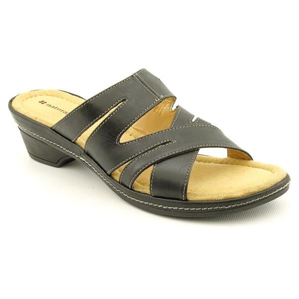 Naturalizer Women's 'Enrica' Black Leather Sandals