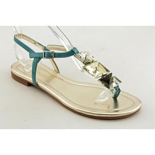 Enzo Angiolini Women's 'Tootsy' Aqua Synthetic Sandals
