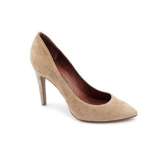 Tan Luxury Rebel Women's 'Victoria' Regular Suede Dress Shoes