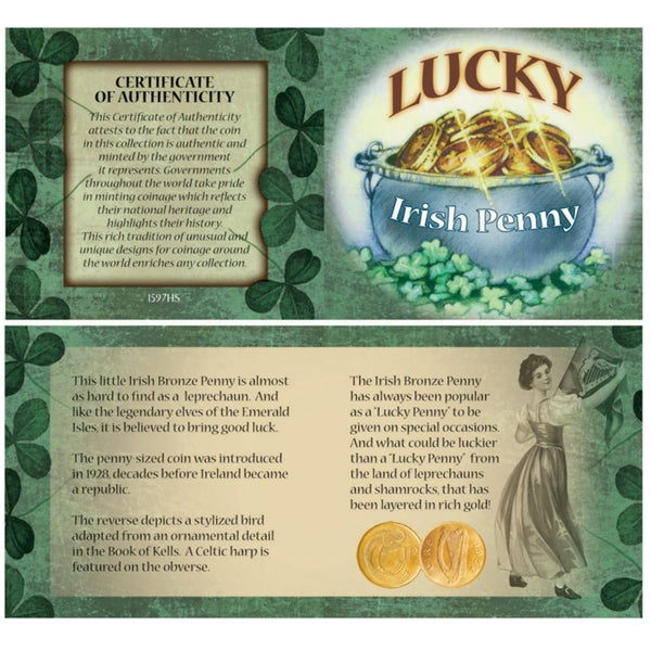 American Coin Treasures Bankers Bag of Lucky Irish Pennies
